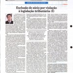 Rausch Mainenti - Artigos - Exclusão de sócio por violação à legislação tributária e aos direitos societários - Diário do Comércio - Parte 01