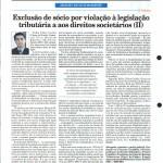 Rausch Mainenti - Artigos - Exclusão de sócio por violação à legislação tributária e aos direitos societários - Diário do Comércio - Parte 02