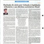 Rausch Mainenti - Artigos - Exclusão de sócio por violação à legislação tributária e aos direitos societários - Diário do Comércio - Parte 03