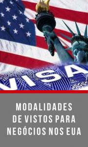 MODALIDADES DE VISTOS PARA NEGÓCIOS NOS EUA
